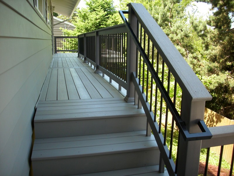 Timbertech Xlm Second Story Deck Composite Stairs With