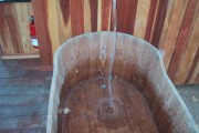 Teak Tub being filled
