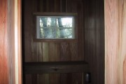 window in the sauna