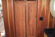 Saloon style doors to the changing area