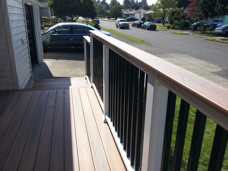 Composite deck board covers