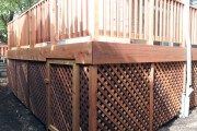 Cedar lattice access hatch