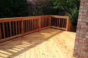 Herringbone pre-stained cedar deck