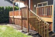 Cedar deck and lattice