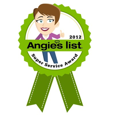Angies List 2012 award logo