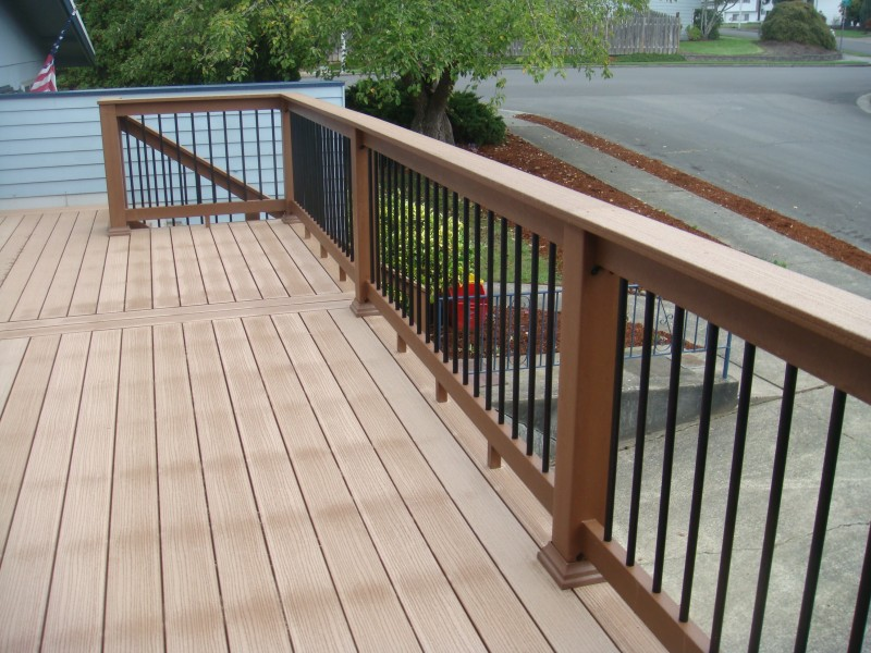 Composite deck company deck masters llc portland or for Composite deck railing