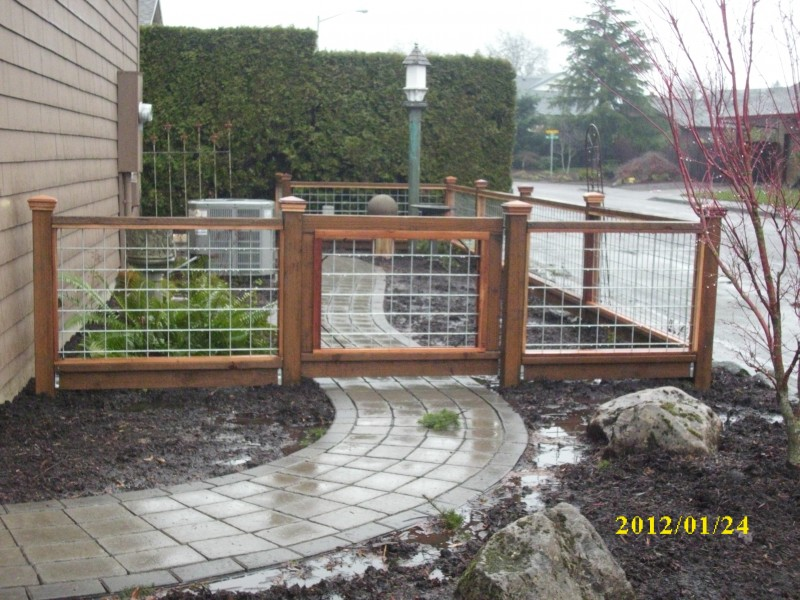 Hog Panel Fence Deck Masters Llc Portland Or