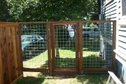 Hog panel fence and gate