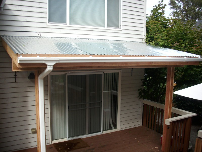 Corrugated patio cover deck masters llc portland or - Types patio roofing ...