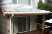 Corrugated metal patio cover