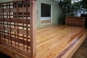 Cedar deck and step