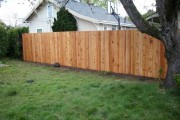 Basic dog ear cedar fence