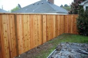 Cedar fence with top cap