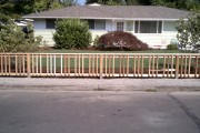 Picket fence/railing before painting