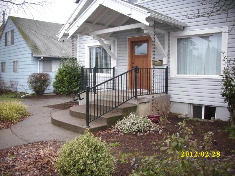 Metal railing Metal porch railing - Deck Masters, llc ...