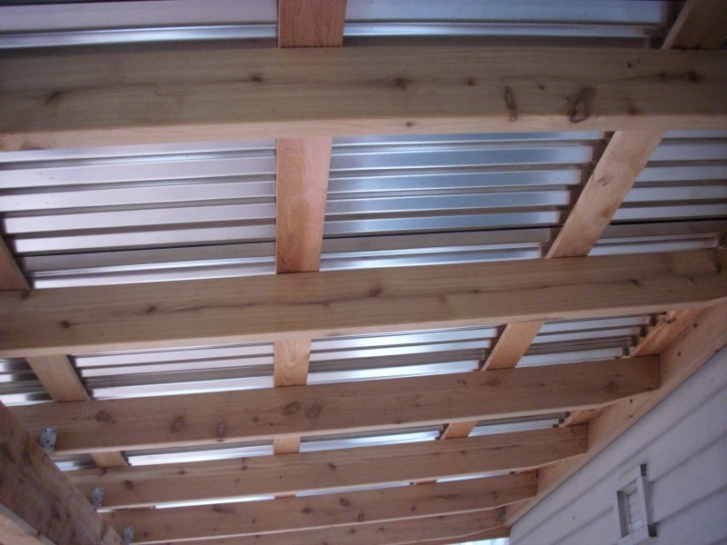 Corrugated Metal Patio Roof Designs Images
